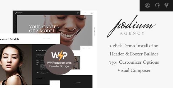 Podium | Fashion Model Agency WordPress Theme – WP Theme Download