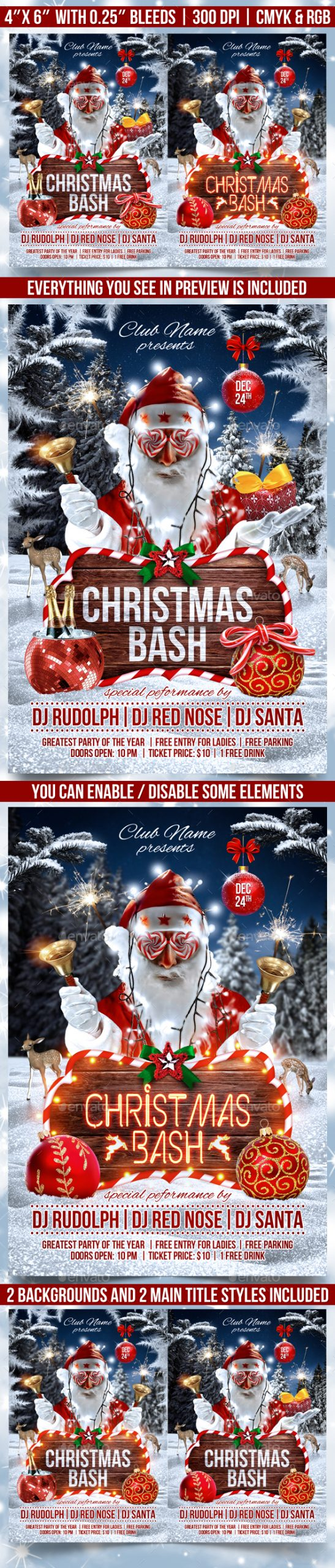 Flyers PSD – Christmas Bash Flyer Template – Download