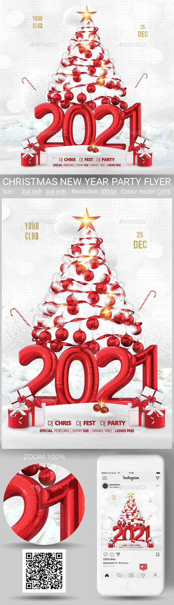 Flyers PSD – New Year – Download