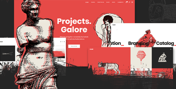 Haar – Portfolio Theme for Designers, Artists and Illustrators – WP Theme Download