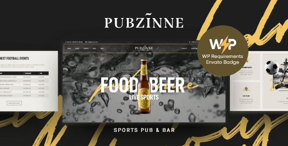 Pubzinne – Sports actions Bar WordPress Theme – WP Theme Download