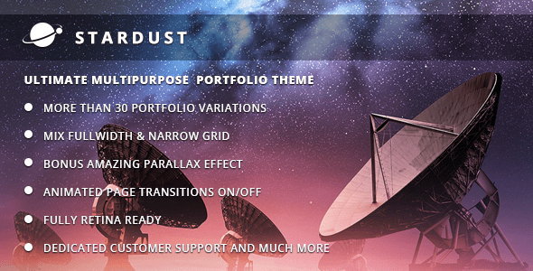 Stardust – Multi-Motive Portfolio WordPress Theme – WP Theme Download