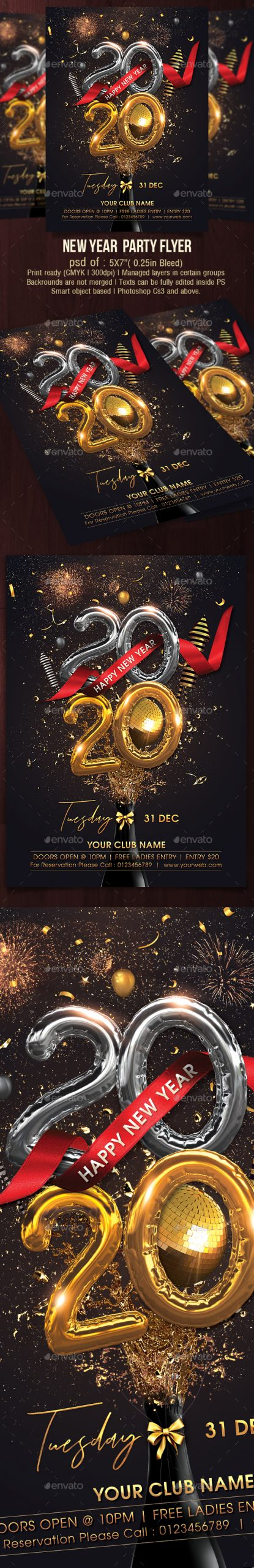 Flyers PSD – Happy Recent Year 2020 – Download