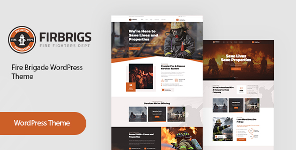 Firbrigs – Fire Department WordPress Theme  – WP Theme Download