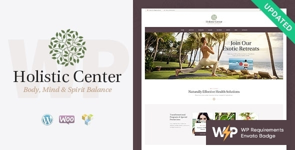 Holistic Center – Wellness and Spa Salon WordPress Theme – WP Theme Download