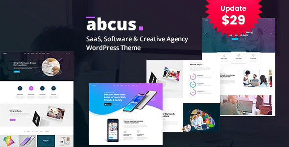 Abcus – App & SaaS Startup WordPress Theme – WP Theme Download
