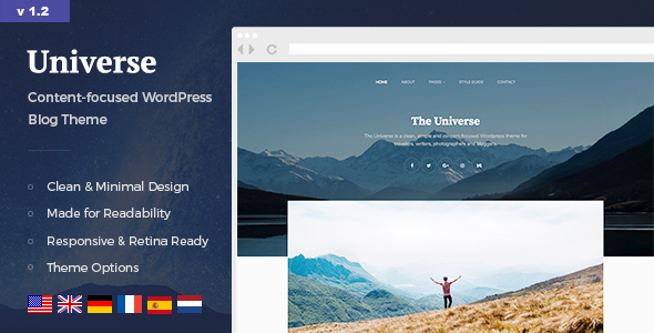 Universe – Easy & Minimal WordPress Blog Theme – WP Theme Download