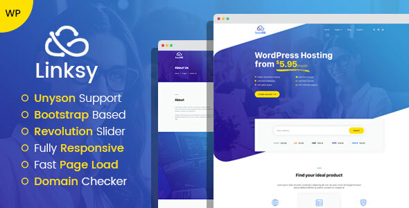 Linksy – area and cyber net hosting provider WordPress theme – WP Theme Download