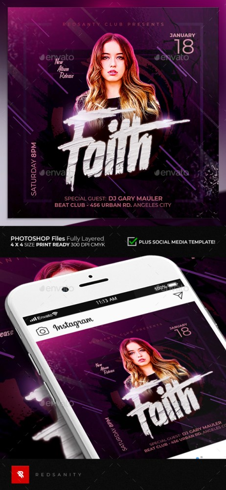 Flyers PSD – Guest DJ Flyer – Download
