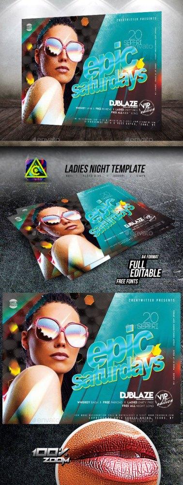Flyers PSD – Ladies folk Night Flyer Template – Download