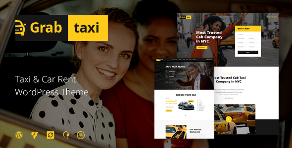 Take hold of Taxi | On-line Cab Provider WordPress Theme – WP Theme Download