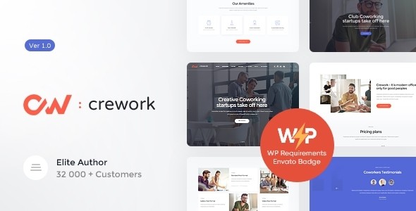 Crework | Coworking and Ingenious Home WordPress Theme – WP Theme Download
