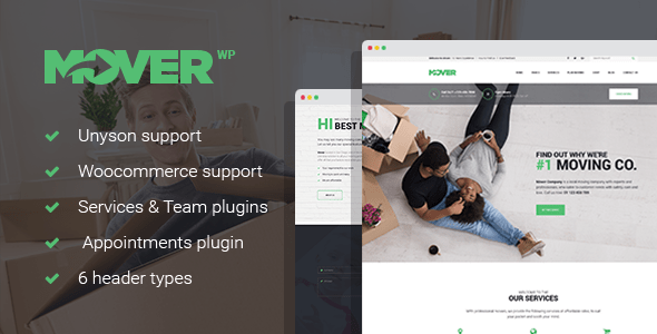 Mover – Transferring Firm & Storage Companies and products WordPress Theme – WP Theme Download