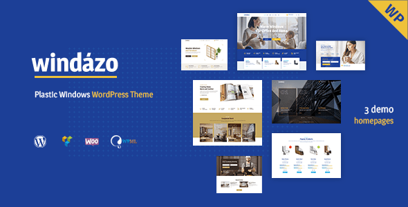 Windazo – Plastic Dwelling windows and Doors WordPress Theme – WP Theme Download
