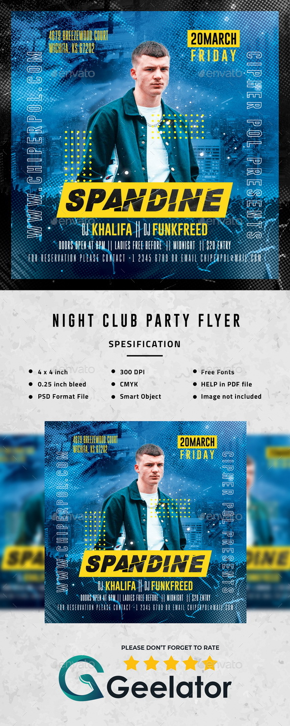 Flyers PSD – Evening Membership Birthday celebration Flyer – Download