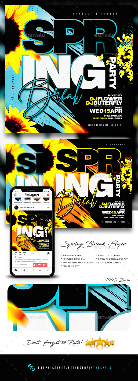 Flyers PSD – Spring Flyer – Download