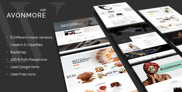 Ingenious Multipurpose WordPress Theme –  Avonmore  – WP Theme Download