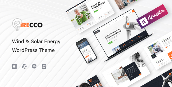 iRecco – Wind & Solar Vitality WordPress Theme  – WP Theme Download