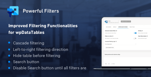 Grand Filters for wpDataTables – Cascade Filter for WordPress Tables – PHP Script Download