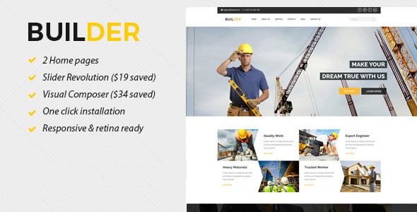 Builder – Construction WordPress Theme  – WP Theme Download