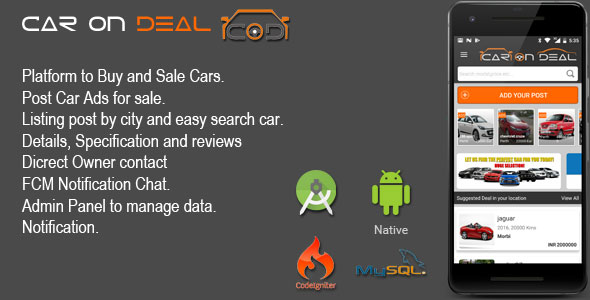 CAR ON DEAL – Clutch And Sale Automobile Android App  – PHP Script Download