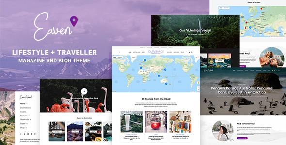 Eaven – Lifestyle & Traveller Magazine and Weblog theme  – WP Theme Download