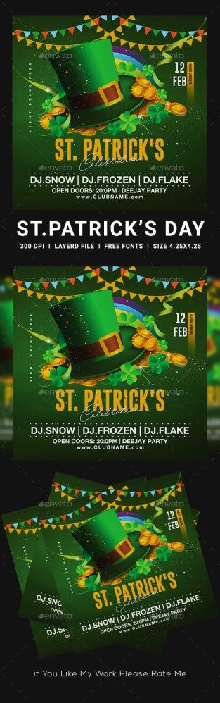 Flyers PSD – St Patrick's Day  – Download