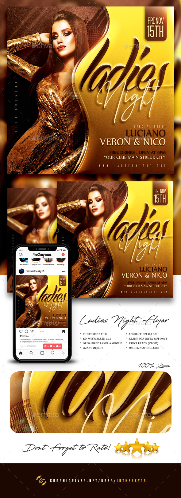 Flyers PSD – Girls Night Flyer  – Download