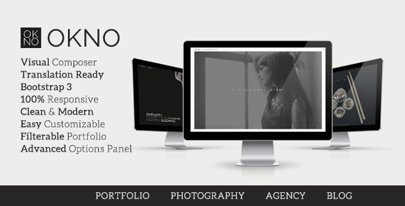 Okno – Company Portfolio Theme  – WP Theme Download
