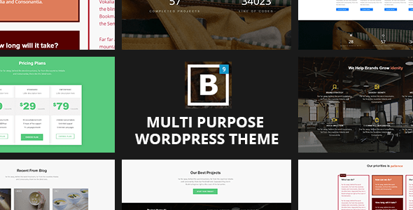 BIG Border – One page Ingenious Portfolio WordPress Theme  – WP Theme Download