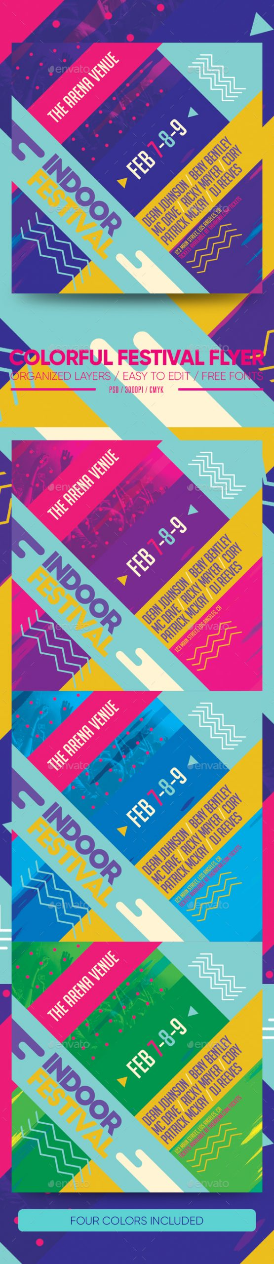 Flyers PSD – Colourful Festival Flyer  – Download