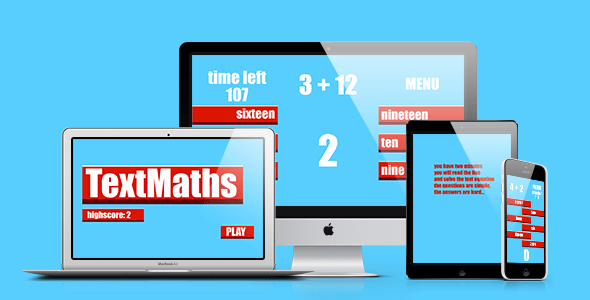 Math Sport: Text Maths  – PHP Script Download