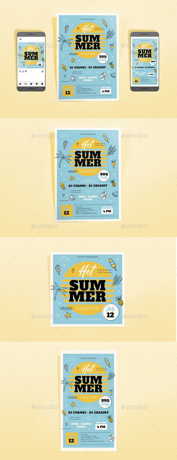 Flyers PSD – Summer time Vacation Template Predicament  – Download