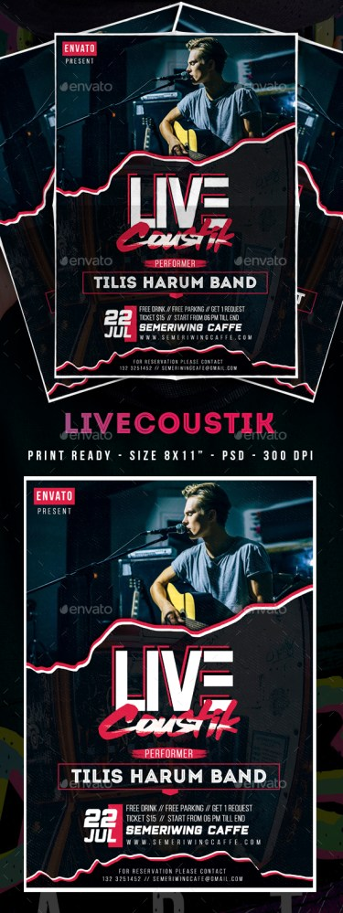 Flyers PSD – Reside Acoustic Flyer – Download