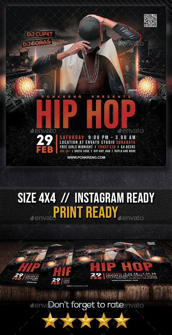 Flyers PSD – Hip Hop Acquire collectively Flyer – Download