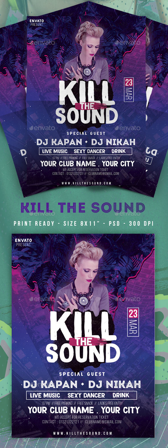 Flyers PSD – Abolish The Sound Membership Event Flyer – Download