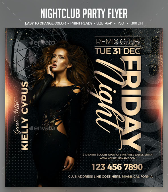 Flyers PSD – Nightclub Ranking collectively Flyer  – Download