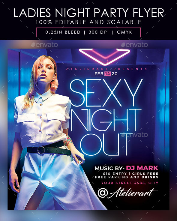 Flyers PSD – Females Evening Occasion Flyer  – Download