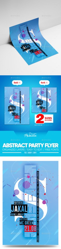 Flyers PSD – Summary Social gathering Flyer  – Download