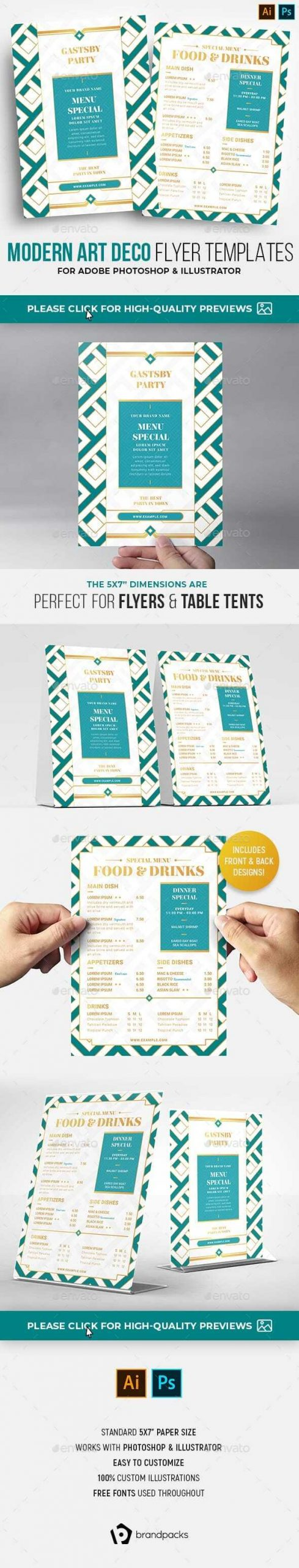 Flyers PSD – Fashionable Art Deco Flyer Template  – Download