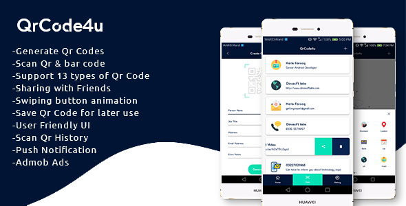 QrCode4u – Qr Code Generator + Scanner + Barcode Reader  – PHP Script Download