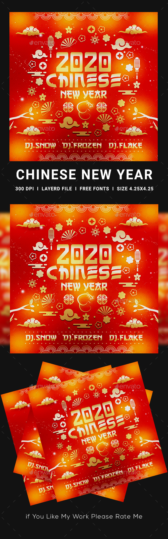 Flyers PSD – Chinese language Novel 300 and sixty five days Flyer  – Download