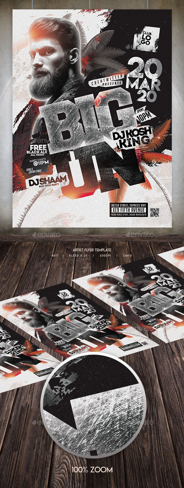 Flyers PSD – Rap Artist Flyer Template  – Download