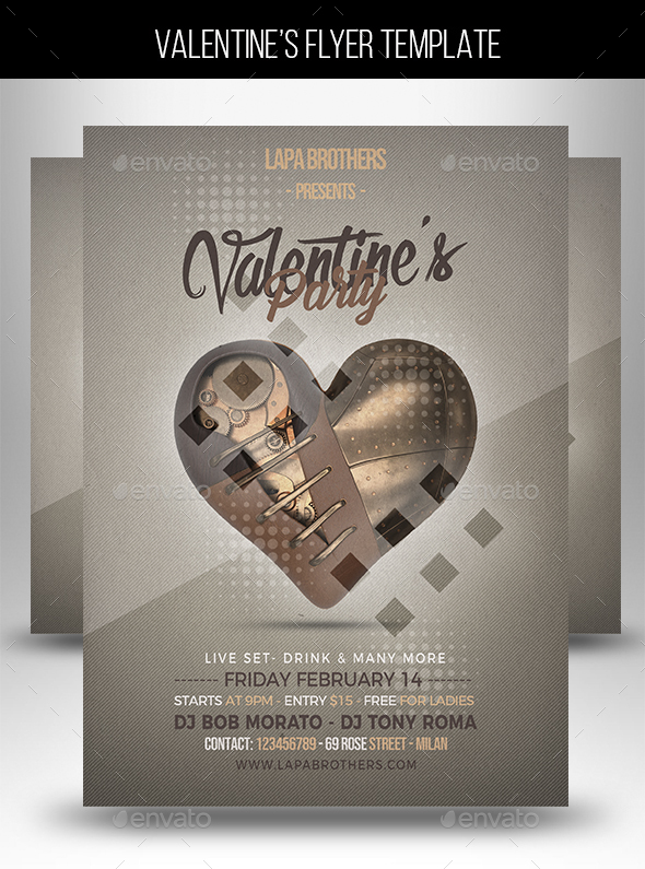 Flyers PSD – Valentine's Occasion Flyer Templat  – Download