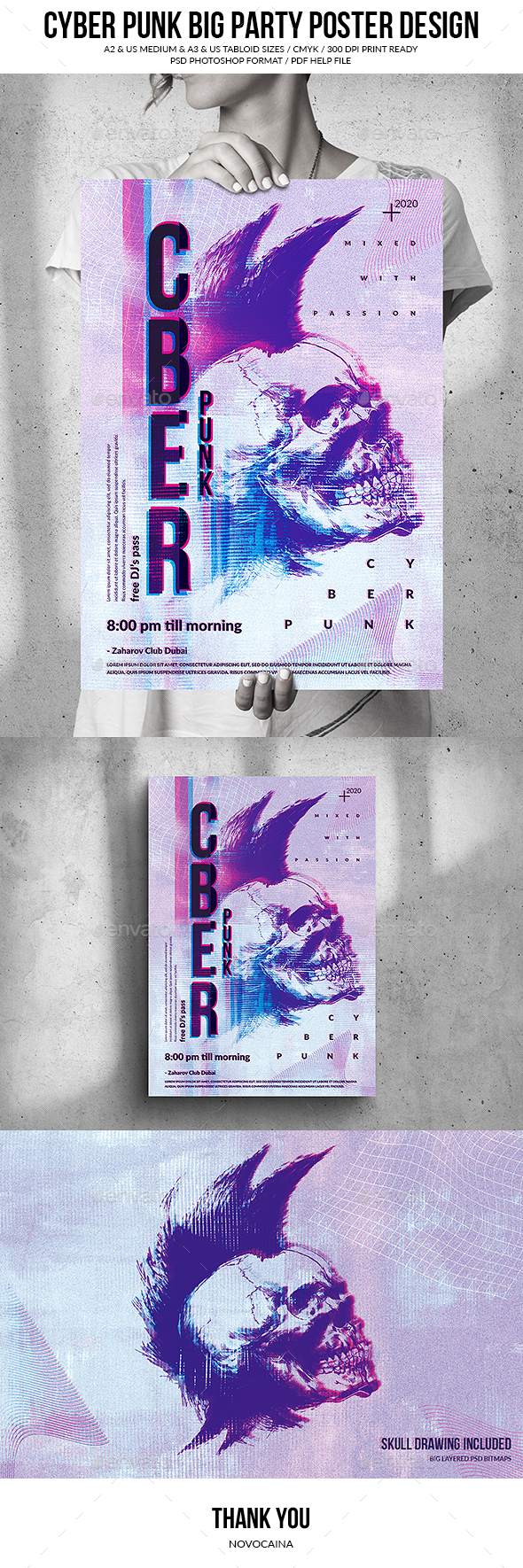 Flyers PSD – Cyberpunk Gigantic Poster Manufacture  – Download