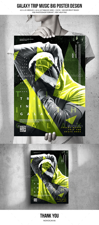 Flyers PSD – Galaxy Journeys Song Gargantuan Poster Set up  – Download