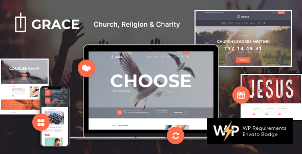 Grace – Church, Religion & Charity WordPress Theme  – WP Theme Download