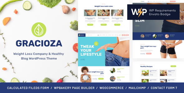 Gracioza | Weight Loss Firm & Healthy Weblog WordPress Theme  – WP Theme Download