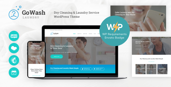 GoWash | Dry Cleaning & Laundry Provider WordPress Theme  – WP Theme Download