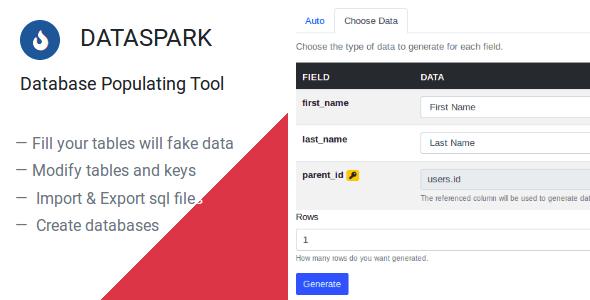 Dataspark – Database Populating Instrument  – PHP Script Download